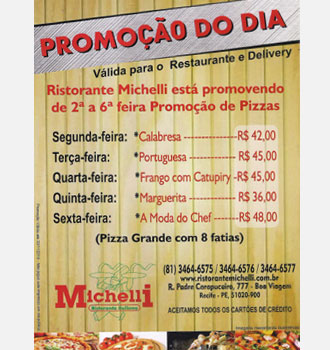 Shopping recife gastronomia festival for Michellis menu