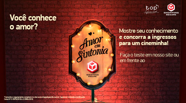 98908a11ab36 Ambiente bastante comum aos casais, a sala de cinema terá um gostinho ainda  mais especial no Dia dos Namorados do Shopping Recife.